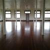 A PEEK AT OUR NEWLY REFINISHED FLOOR IN OUR BALL ROOM ON THE THIRD FLOOR
